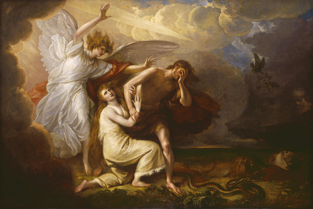 Benjamin West, 'The Expulsion of Adam and Eve from Paradise', 1791, National Gallery of Art, Washington, D.C.