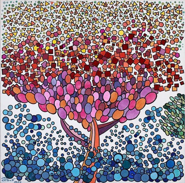 Jack Ottanio, 'Mars tree', 2020, Painting, Acrylic on canvas, SmART Coast Gallery