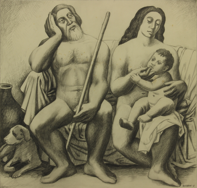 , 'Adam & Eve and the First born,' 1931, Addison Rowe Gallery