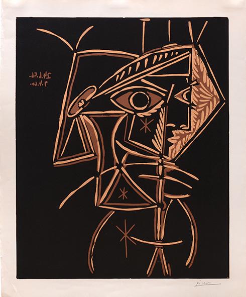 Pablo Picasso, 'Tete de Femme', 1959-1960, Print, Linocut, Tanya Baxter Contemporary