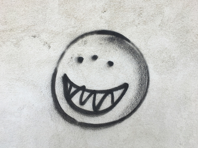 , 'Sinister smiley face, Hinkley, California,' 2017, Fraenkel Gallery