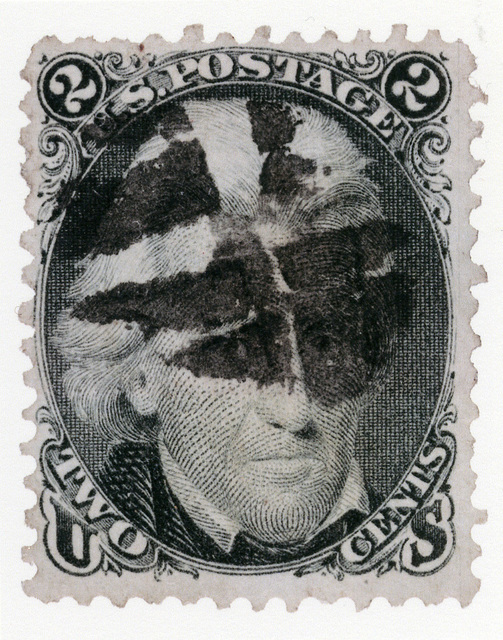 , 'Andrew Jackson stamp with fancy cancel,' 2013, Pace/MacGill Gallery