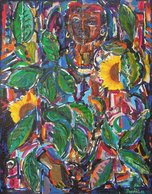 , 'Girl with Sunflowers,' 2017, Greenhut Galleries