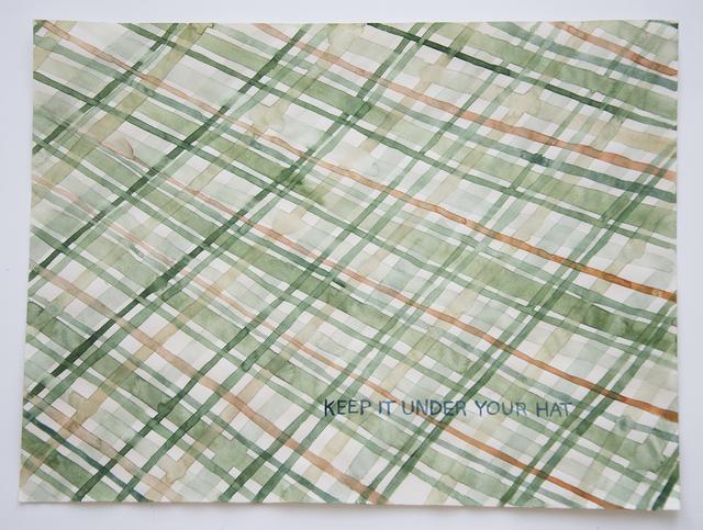 , 'Domestic Textiles Series, Under Your Hat,' 2018, frosch&portmann