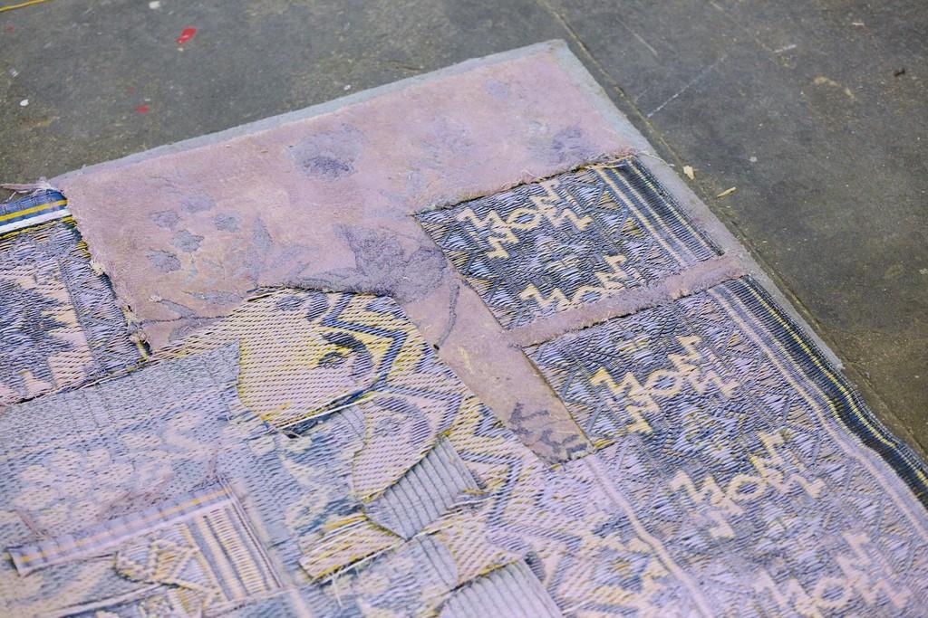 Untitled (Bruised Carpet in Lavender)