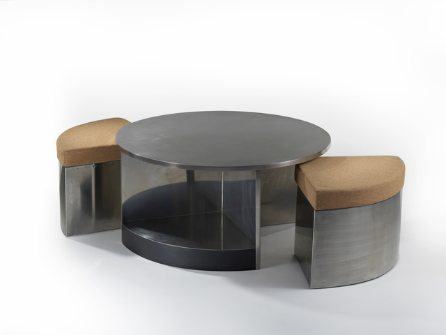 , 'Table Tambour Deux Sièges / Tambour Table with Two Seats,' ca. 1968, Demisch Danant