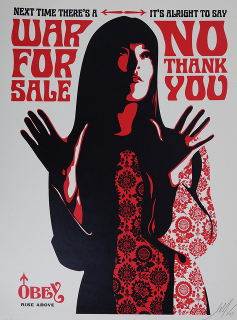 Shepard Fairey, 'War For Sale (Cream)', 2007, Chiswick Auctions