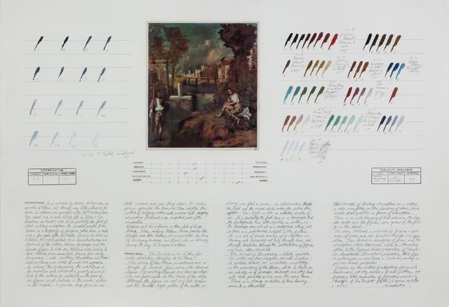 "Osvaldo Romberg, 'Analysis of ""The Tempest"" (Giorgione)', 1976, Henrique Faria Fine Art"