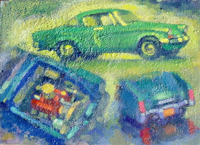 Don Wynn, ''53 Studebaker with 283', 2020, Painting, Acrylic, Keene Arts