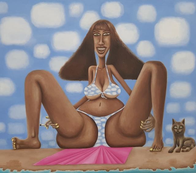 , 'Kelly on the Beach,' 2010, LUNDGREN GALLERY