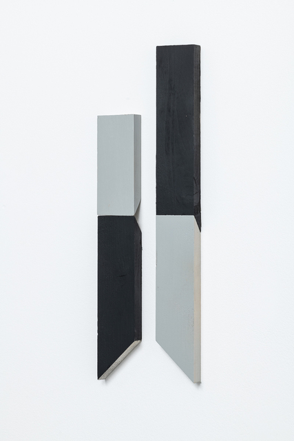 Luis Romero, 'Matches (Negro/Gris)- Diptych', 2019, Painting, Paint on wood, Kupfer