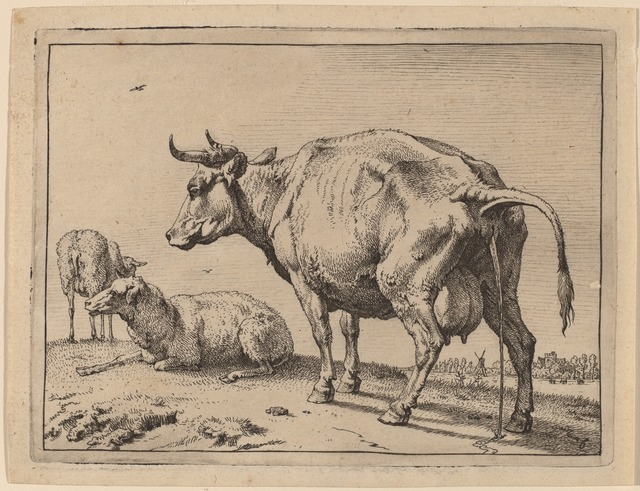 Paulus Potter, 'Pissing Cow', 1650, Print, Etching, National Gallery of Art, Washington, D.C.
