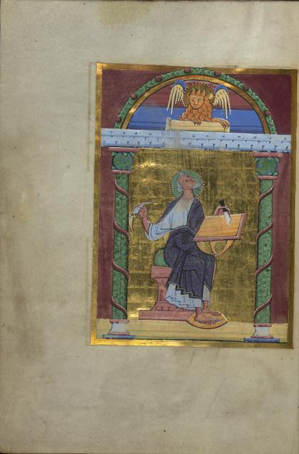 'Portrait of the Evangelist Mark', Mid 11th century, Walters Art Museum