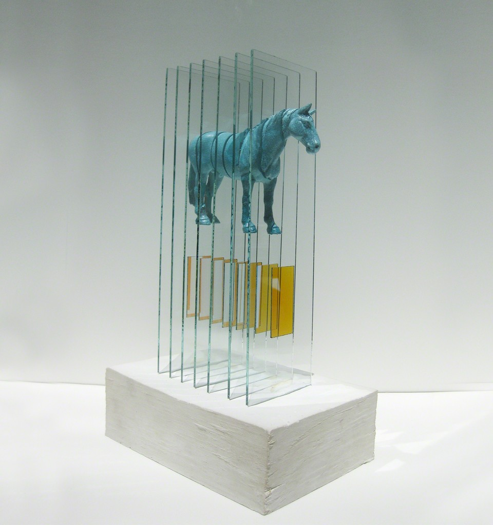 Gordon Huether / Pony Up!, Fiberglass, Glass, Concrete, 14' H x 8'W x 5'D, 2010