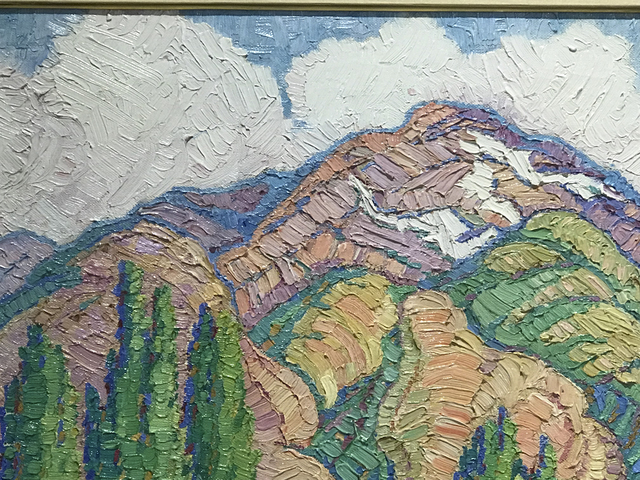 Birger Sandzén, 'Poplars and Mountains', 1900, Glenn Green Galleries