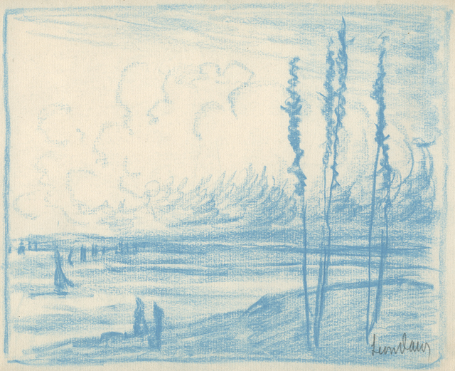 , 'Seascape with Four Spindle Trees,' ca. 1905, Sullivan Goss