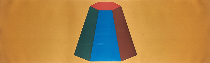 Flat Top Pyramid with Colors Superimposed (Yellow)