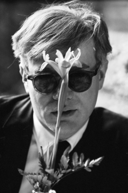 , 'Andy Warhol (with Flower),' 1963, Fahey/Klein Gallery