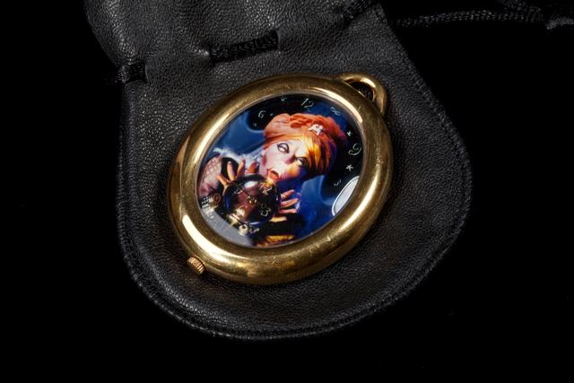 ", '""The Fortune Teller"" watch pendant,' 1993, Didier Ltd."