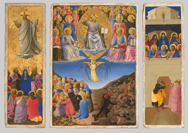 , 'Corsini Triptych (Ascension, Last Judgment, Petecost) ,' about 1447-1448, Isabella Stewart Gardner Museum