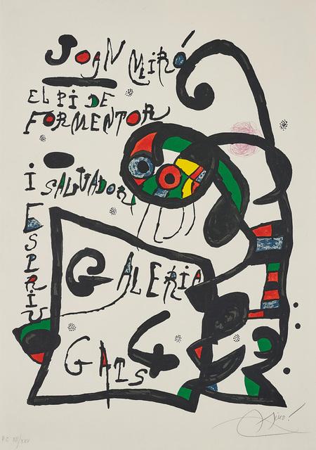 Joan Miró, 'Untitled, for El Pi de Formentor: Galeria 4 Gats (The Pine of Formentor)', 1976, Phillips