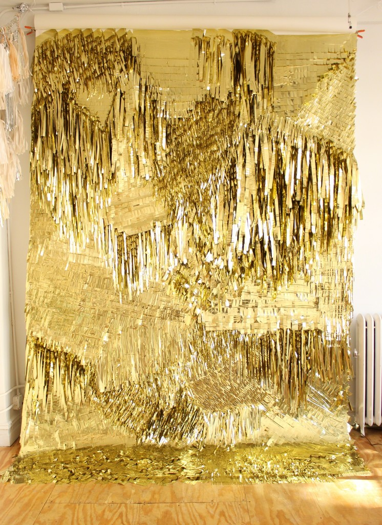 CONFETTISYSTEM, 'Gold Wall,' 2012, Museum of Arts and Design