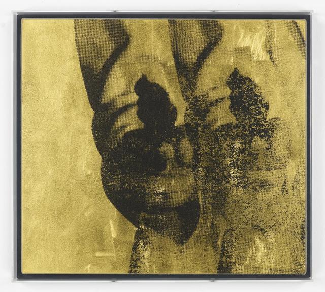, 'Double Gold Pop Gun on Linen,' 2013, MARUANI MERCIER GALLERY