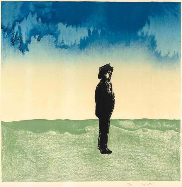 Saul Steinberg, 'Man In Landscape', 1975, Doyle