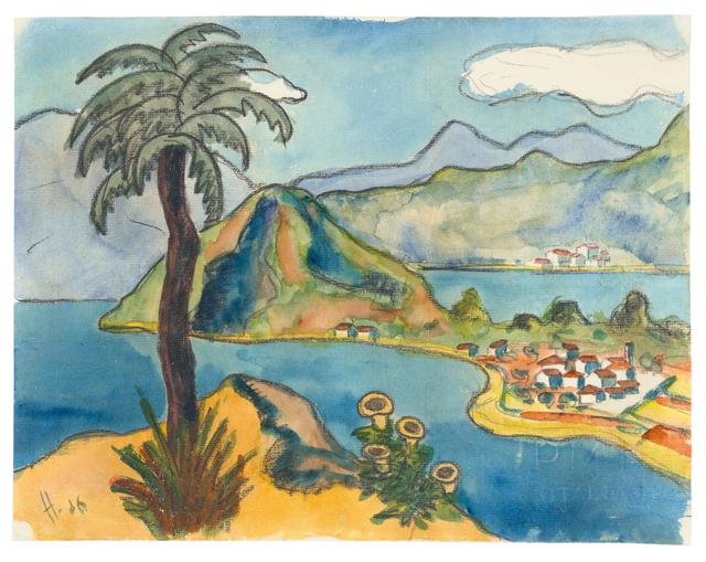 , 'Landschaft im Tessin,' 1926, Ludorff