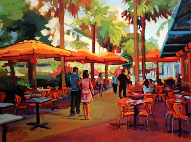 , 'Lincoln Road Lunch,' , LaMantia Fine Art Inc.