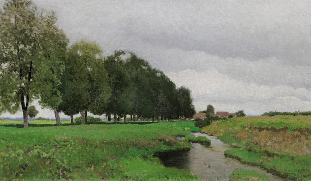 , 'Landscape with Stream in Lower Austria ,' ca. 1920, Galerie Bei Der Albertina Zetter