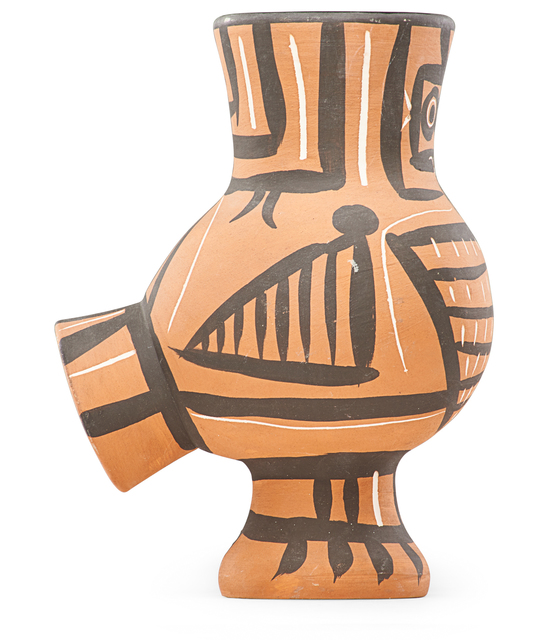 Pablo Picasso, 'Vase, Mat Wood Owl (Chouette Mate), France', des. 1958, Design/Decorative Art, Earthenware, incised and decorated in engobes, glazed interior, Rago/Wright