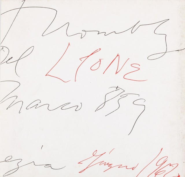 Cy Twombly, 'Cy Twombly', 1962, Finarte