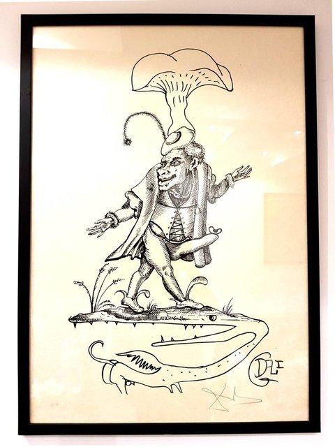 Salvador Dalí, 'Salvador Dali - Les Songes Drolatiques - Handsigned Lithograph', 1973, Galerie Philia