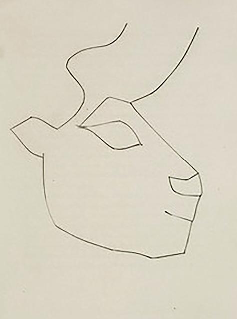 Pablo Picasso, 'Head of a Calf (Plate XXXVI)', 1949, Print, Original etching on Montval wove paper, Georgetown Frame Shoppe