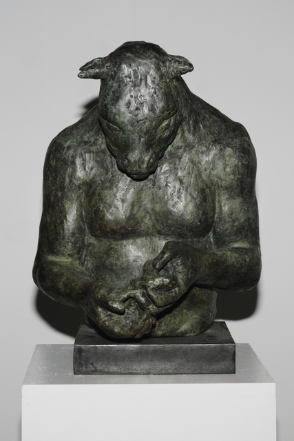 Beth Carter, 'Large Minotaur Bust (with bird)', Hugo Galerie