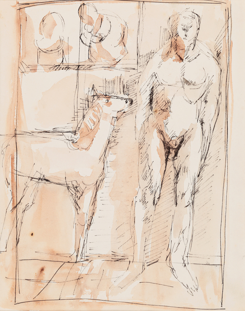 , 'Soene with a Horse and a Figure,' 1956-1957, PKM Gallery