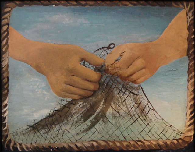 , 'Hands with Fishing Net,' 1930, Osborne Samuel