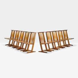 Set of ten Conoid chairs, New Hope, PA