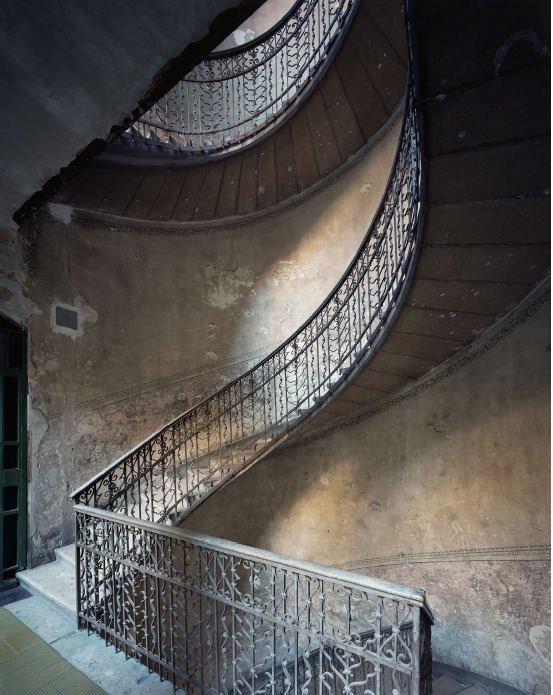 Marchand & Meffre Budapest Staircases  Josika Ucta 25, 2015, 75 x 60 cm, edition of 12, Chromogenic Print mounted on dibond and framed.