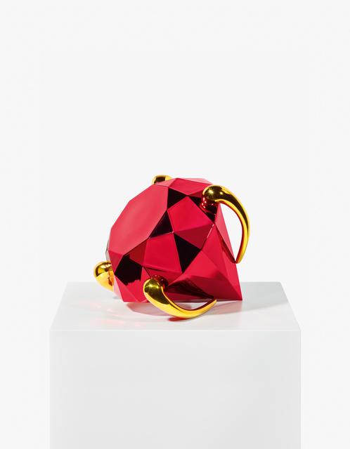Jeff Koons, 'Diamond (Red)', 2020, Sculpture, Porcelain with mit chromatic  Coating, Galerie Kovacek & Zetter
