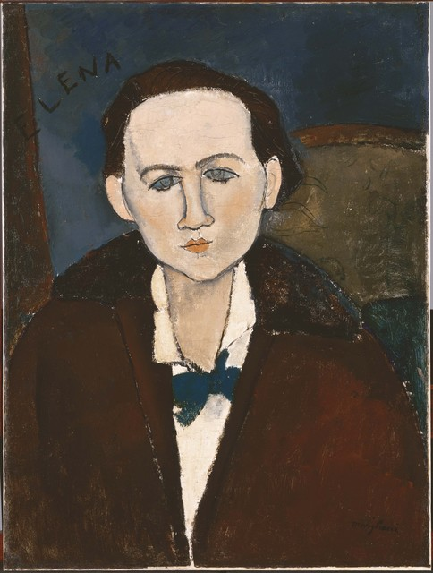 Amedeo Modigliani, 'Elena Povolozky', 1917, Phillips Collection