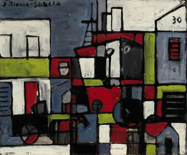 , 'Port constructif avec ciel bleu (Puerto constructivo con cielo azul) ,' 1930, Gary Nader