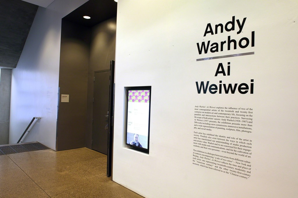 "Installation view of ""Andy Warhol 