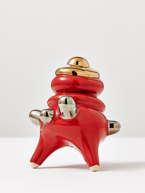 , 'Red Standing Object with Platin and Gold,' , Jason Jacques Gallery