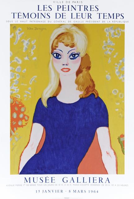 Kees van Dongen, 'Les Peintres Témains de Leur Temps', 1964, Print, Color lithograph, Hans den Hollander Prints