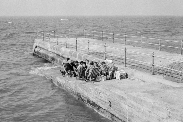 , 'Herne Bay holidaymakers determined to enjoy their holiday. England.,' 1963, Magnum Photos
