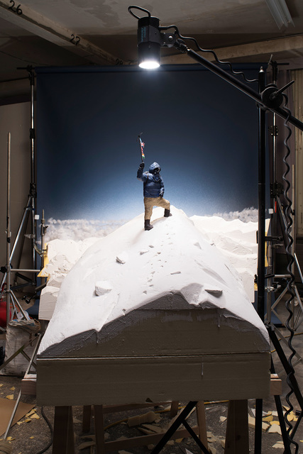 """, 'Making of """"Tenzing Norgay on the Summit of Mount Everest"""" (by Edmund Hillary, 1953),,' 2015, East Wing"""