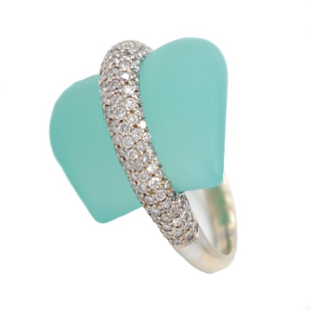, 'Diamond Aquamarine Gold Ring,' 2016, form & concept
