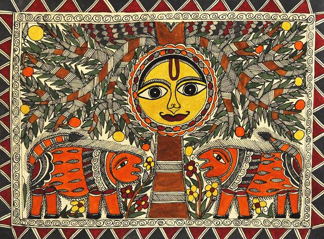 , 'The Sunshine - Madhubani - Indian Tribal & Traditonal Art,' 2013, ICAC